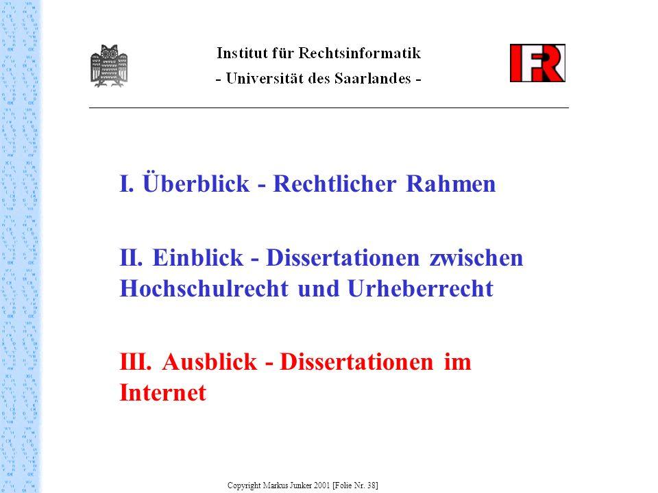 Copyright Markus Junker 2001 [Folie Nr. 38]